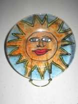4 h project, painted sun plate