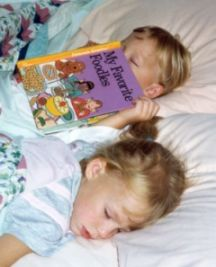 home school book lists, read in bed asleep