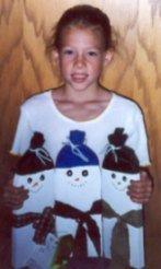 4 h project, wooden snowmen