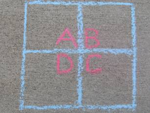 Outdoor Games for Kids, Four Square Game