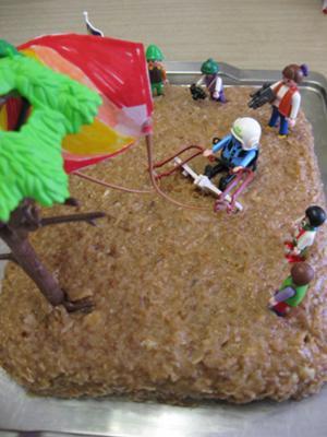 Kiteboarding Birthday Cake